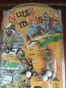 Nutty Madd Bagatelle Playline Action Game Marx 1964 - Beautiful