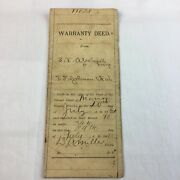 Deed Real Property Estate Marion County Florida 1891 Post Civil War Antique