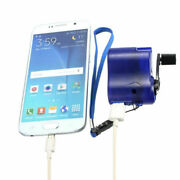 Cell Phone Emergency Charger Usb Crank Hand Manual Dynamo For Mp4 Mobile Blue