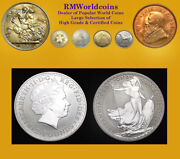 Gt. Britain 1998 2 Pounds, Rare Gem Proof Matte Fields And Frosty Devices.