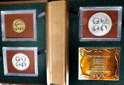 Turk And Caicos 1976 3 Pcs Proof Set Gold/silver Case/coa Only 350 Set Rare