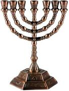 Holy Land Market Jewish Candle Sticks Menorah - 7 Branches - 12 Tribes Of...