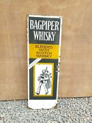 1940s Vintage Old Rare Bagpiper Whisky Blended With Scotch Whisky Enamel Sign