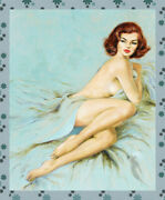 8851.decoration Poster.home Room Interior Art Print.retro Sexy Pinup Pose In Bed