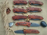 8 Personalized Knives Pocket Knife Dad Wedding And Groomsmen Gifts Hunting922