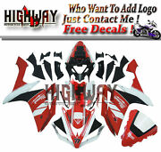 Motorcycle Abs Fairings Body Work Kits Set Fit Yamaha Yzf R1 07-08 Red Black