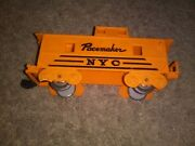 Nyc New York Central Yellow Pacemaker Caboose Marx O Scale Train Car Used