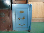 Original Light Blue Vintage English Victorian Safe - In Iron Perfectly Working
