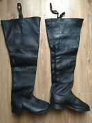 Rare Russian Soviet Military Army Cavalry Leather Boots Ussr Size 41