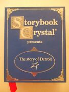 Storybook Crystal Glass Set 4 The Story Of Detroit New L@@k