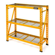 Dewalt 4 Ft. Tall 3 Shelf Steel Wire Deck Storage Rack Dxst4500-w