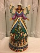 Jim Shore Angel Figurine Woodland Christmas For All Great And Small New 4007932