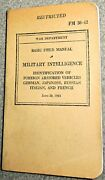 Ww2 Us War Dept 1941 Military Intelligence Id Of Foreign Armor Vehicles Fm 30-42