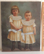 1896 Antique San Francisco California Listed Artist Oil Painting Children 36 In
