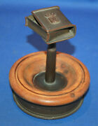 A Very Unusual Trench Art Arras Crest Shell Case Bullet Match Box Holder On Base