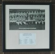 1955 Manchester United Champions 11 X Signed Mounted Display 15 X 15 Frame