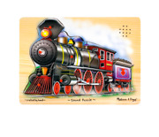 Brand New Melissa And Doug Train Sound Puzzle -- All Aboard
