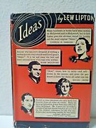 Lipton, Lew. Ideas. New York Chatham Publishing Co, 1937 Hardcover And Dustjack