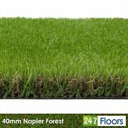 Napier Forest 40mm Realistic Artificial Grass Natural Look Lawn Turf 2m 4m