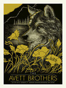2016 Avett Brothers Simsbury Lone Wolf Concert Poster 7/5 S/n /200 Ct Mint