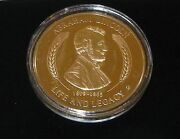 American Mint Life Of Abraham Lincoln24k Gold Layered Piece With Coa D-03911