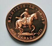1873-1973 Rcmp Royal Canadian Mounted Police 100th Medal - Au+ Lustre - Scarce