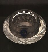 Royal Copenhagen Crystal Glass Votive Candle Holder Clear Swirl With Sticker
