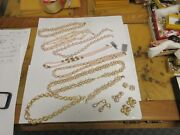 Costume Jewelry Vintage Trfari 1928 Vendome Pink/whilte/gold Mixed Lot
