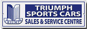 Triumph Sports Cars Sales And Service Centre Metal Sign.garage Sign.classic Cars.