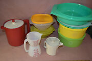 Vintage 70's Tupperware Bowls / Canisters / Storage Containers - 16 Piece Set