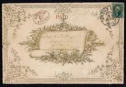 Sc 32 On Big Valentine Cover Feb 11 1853 Pmk Red Paid And U States Handstamp Look