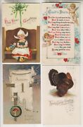 16 Vintage Postcards - New Years - Thanksgiving - Valentines Day