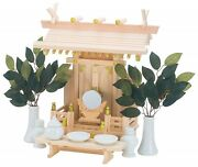 New Japan Shinto Altar Wooden Kamidana Home Size With 11 Items Fast Shipping