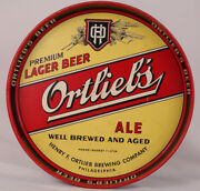 Vintage Ortliebs Lager Ale Collectible Beer Tray Philadelphia Pa Great Shape 12