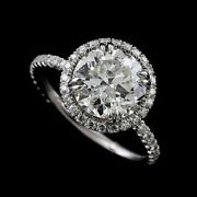 Forever One Moissanite Cut Down Micropave Diamond 14k Gold Engagement Ring