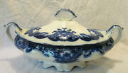 Johnson Brothers Oregon Beautiful Flow Blue Covered Serving Bowl W Lid Reduced
