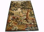 A Beautiful Antique Tapestry With Castle Bridge And Trees 2 Of 4