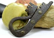 Ancient Rare Flint Old Collectible Antique Iron Engraved Fire Starter G19-43 Us
