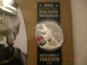 2012w Infantry Soldier Defenders Of Freedom Proof Silver Dollar Special Setsx10