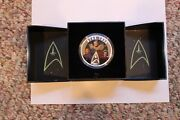Five Brand New Coins - 3 Star Wars1 Star Trek And 1 Flat Time Machine Coin