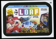 2013 Topps Wacky Packages Series 11 Black Ludlow Back 29 The Game Of Loaf