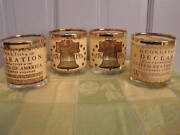 Vintage Bicentennial Old Fashion Glasses, Independence Day, Bar Ware