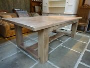 Giant Shaker Style Table For Christmas In English Elm And Oak