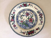 Vintage Royal Cauldon England Plate Charger 1930s 40s Blue Red White