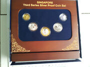 2013 Singapore 3rd Series Silver Proof Coin Set, 5 Pcs With Special Stand And Box
