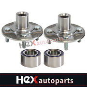Front Wheel Hubs And Bearings Kit Left And Right For 1993-2000 Honda Civic Ex Couple