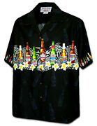Menand039s Hawaiian Chest Border Shirt By Ky Hawaii Fashions In Beer Prints