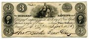 3 Hoboken Banking And Grazing Co Nj - Au 1826 - New Jersey Obsolete Banknote