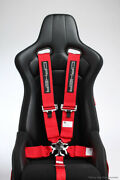 Cipher Auto Racing Harness Set Sfi 16.1 -red 5 Point 3 W/ Camlock - Single