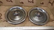 2 1977-1981 Pontiac Grand Prix Lemans Cattalina 14 Inch Finned Wheel Hub Cap